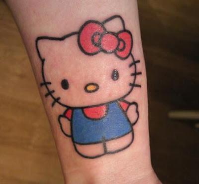 hello kitty tattoos designs. The Classic Hello Kitty Tattoo