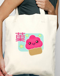 tote with cupcake