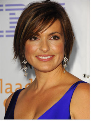 The short fringed bangs hairstyle features the fringe having