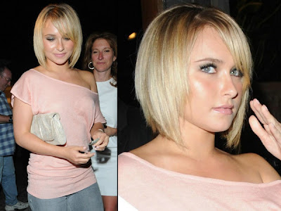 Paris Hilton with Layered Bob Hairstyle