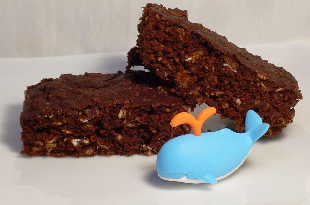 Sweeteners and Light: Chocolate Oatmeal Cake Bars