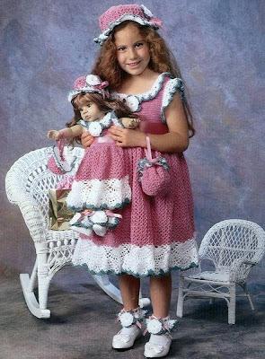 Вязаные платья для девочек.