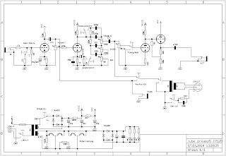 Robin\'s diverse Projekte: Tube-Preamp für E-Bass - Aufbau