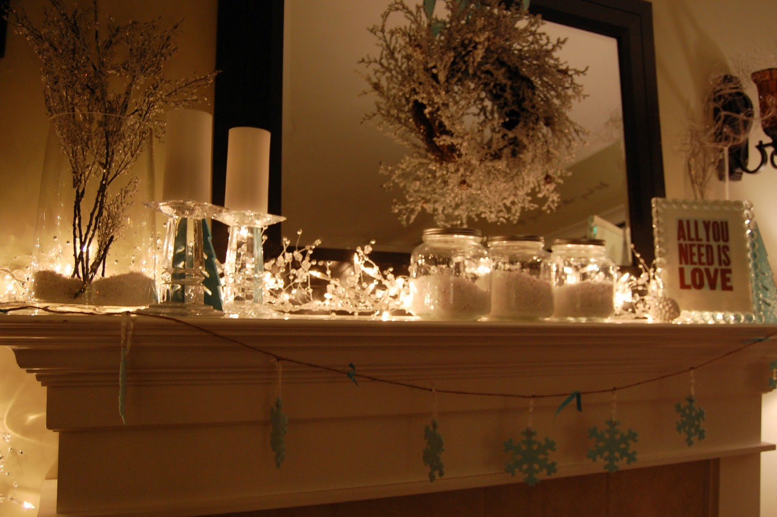 My winter mantel 2010 a pop of pretty blog canadian for Home decor canada