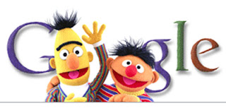 Google Doodle, Sesame Street, Bert and Ernie