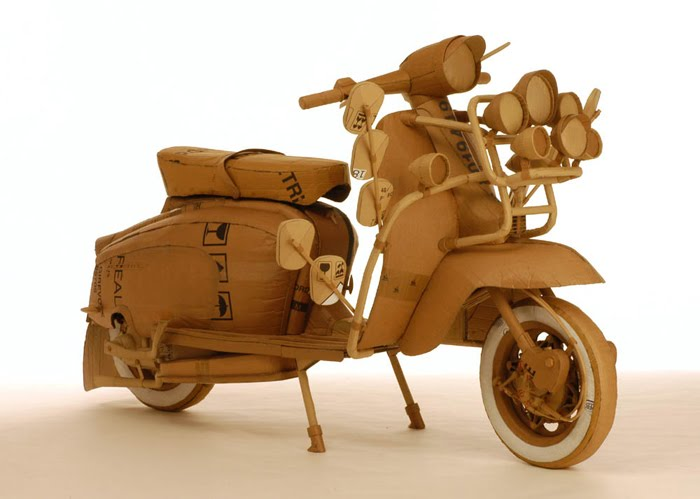 Artist Chris Gilmour has made many sculptures out of cardboard and ...