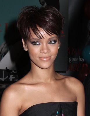 pics of rihanna short hairstyles. short hairstyle. Rihanna