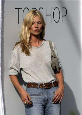 Kate Moss. Kate Moss: Surprised and
