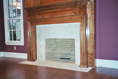 backsplash picture ideas fireplace with 4 x 4 tumbled