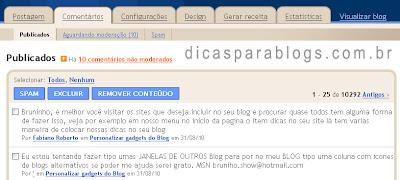 Comentarios do blogger