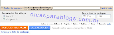 post programado no blog