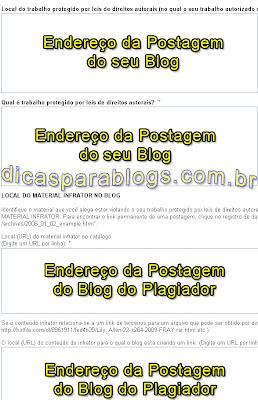 denuncia de plagio no blogger