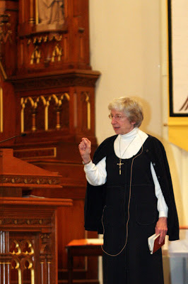 Sr. Ann Shileds Speaking Holy Angels Church