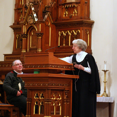 Sr. Ann Shields speaking at Holy Angels Church