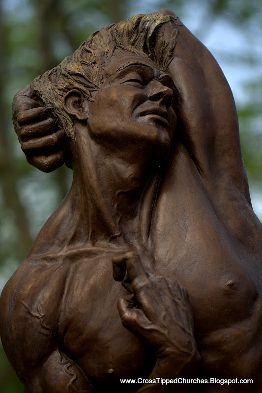 Bronze Sculpture of Adam taking his first breath.