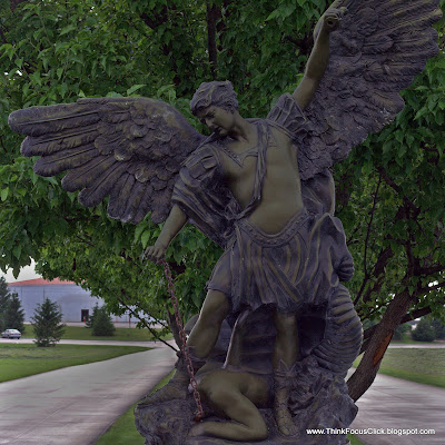 Large statue of St. Michael