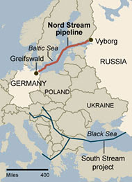 New gas pipelines bypassing Eastern Europe