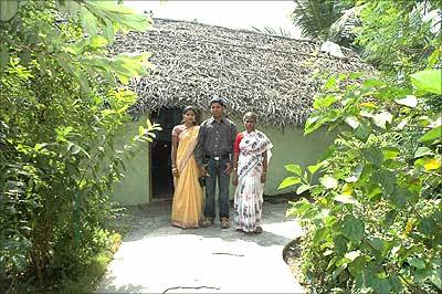 E Sarathbabu, Founder, FoodKing, with his mother infront of his house
