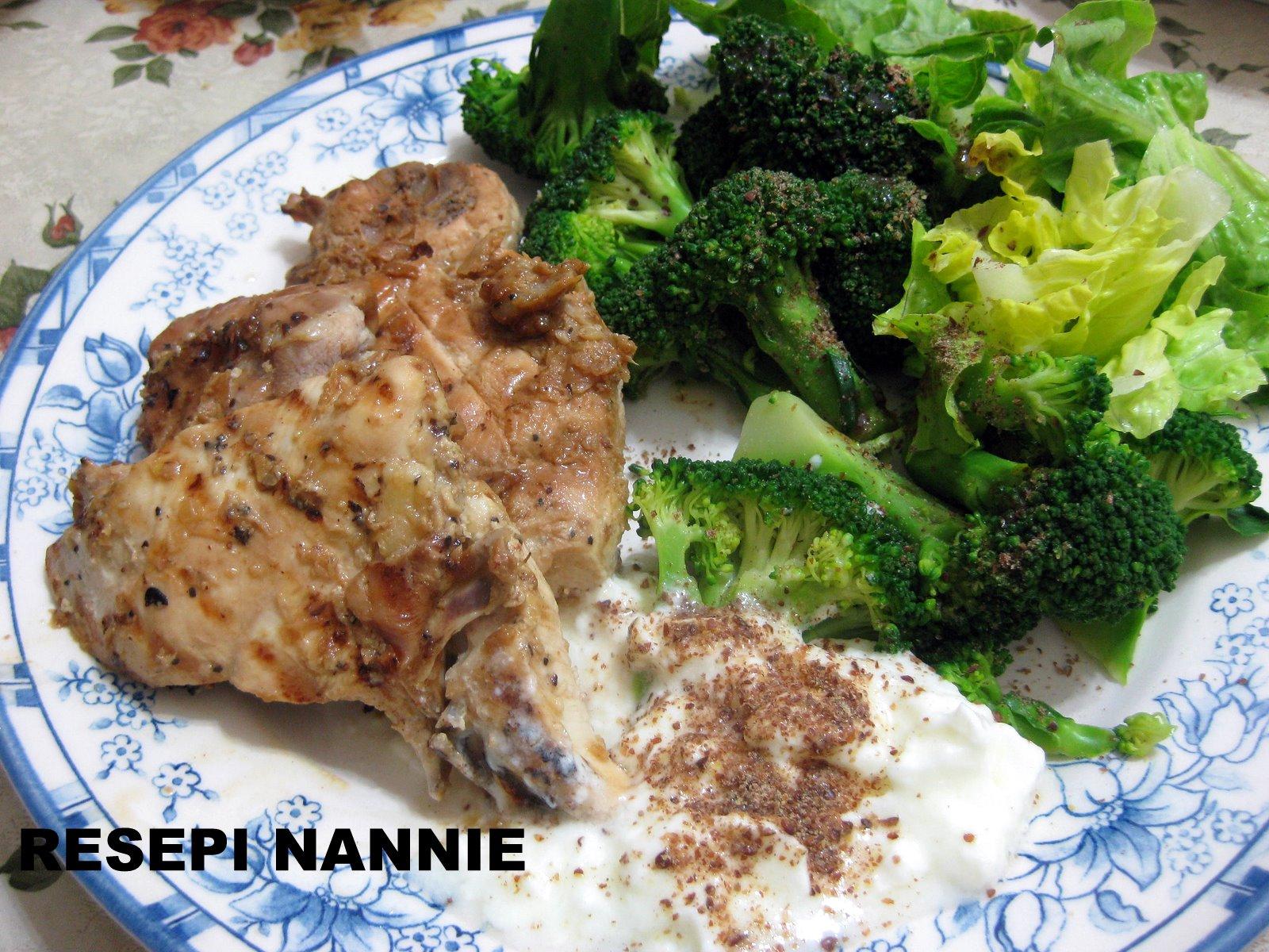 RESEPI NANNIE: Ayam grill & brokoli