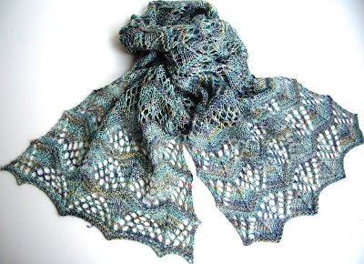 Smoking Hot Needles: Three Sisters Scarves # Two