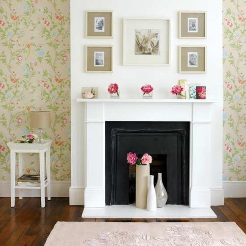 little lovables: mantel decorating