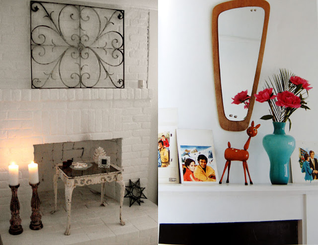 modern mantel decor