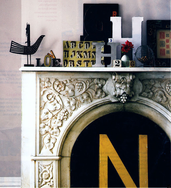 little lovables mantel decorating With mantle letters