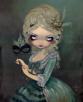 strangeling marie antoinette gothic masquerade art