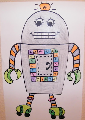 pin the nose on the robot birthday party game
