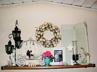 easter egg spring decor decorating craft cottage shabby chic mantle