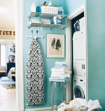blue laundry room damask iron board cover