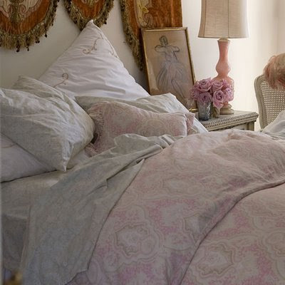 pink ballerina shabby chic bed