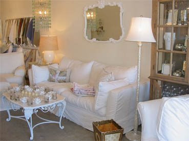 shabby chic white mirror living room slipcovers