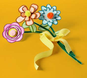 kid kids craft paper flower bouquet