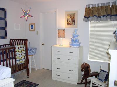 baby boy nursery blue aqua navy brown boutique star lamp