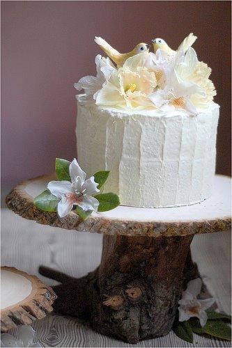 woodland, pedestal tree cake stand