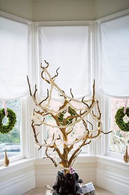 rustic christmas tree whimsy