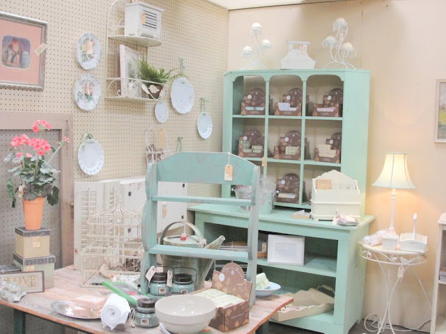 aqua, turquoise, teal, vintage buffet, bookcase
