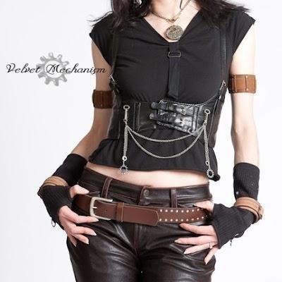 Inspiracion: Trajes y complementos de Mujer Costume+steampunk+harness+velvetmechanism
