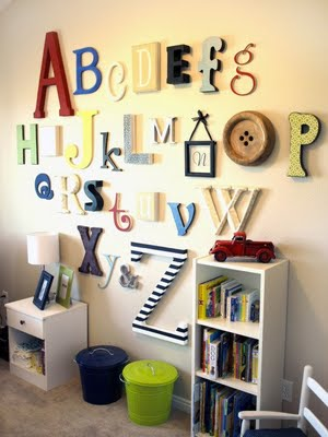 Little lovables inspired rooms kids playrooms for Wall letters kids room