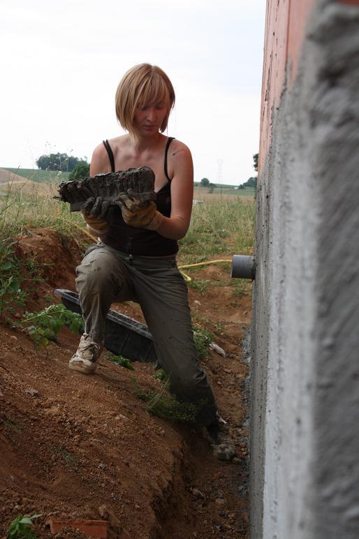 Autoconstruction de notre maison etanch it vide sanitaire - Enduit hydrofuge vide sanitaire ...
