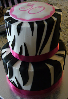 Zebra Birthday Cake on Sep 7 Zebra Cake I Made This Zebra Cake For A 30th Birthday Party It