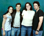 Angie (center) with Peter Facinelli and Billy Burke