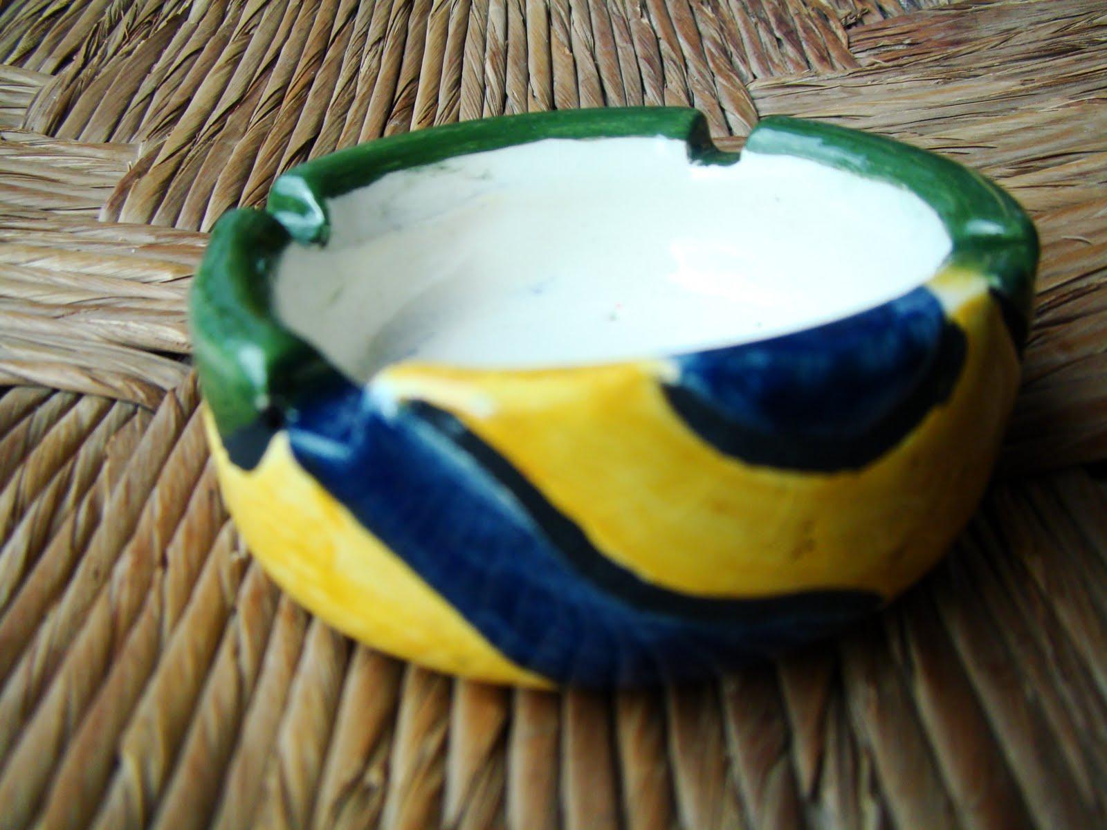 Huinhila decoracion artesanal ceniceros de ceramica for Decoracion en ceramica artesanal