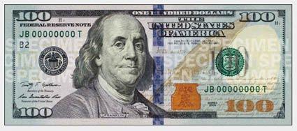 US Dollar 100