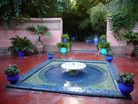 moroccan garden design on Verdant Sanctuary  More Moroccan Courtyards