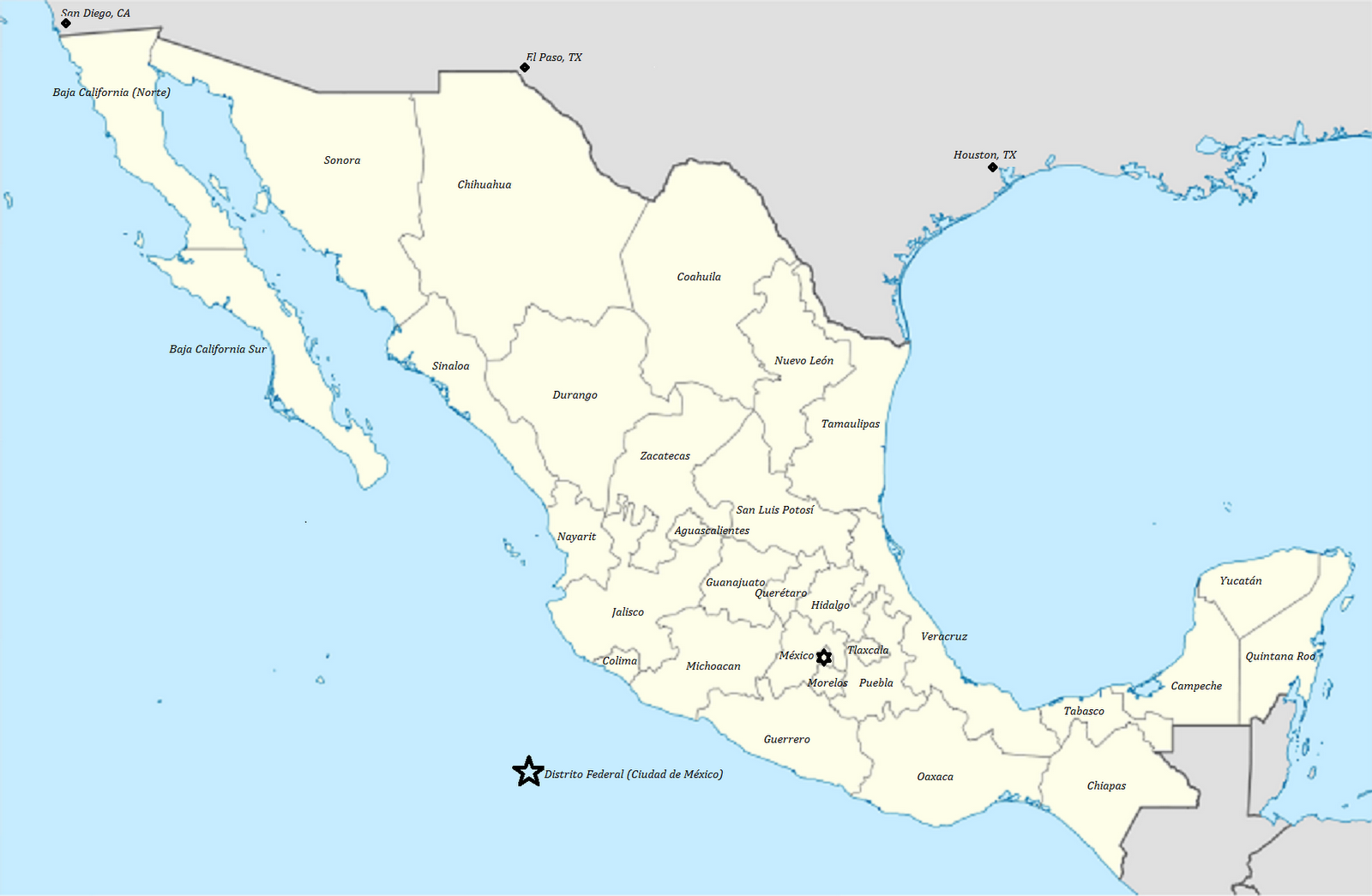 My Spanish Trainer: Un Mapa de México - A Map of The Mexican States