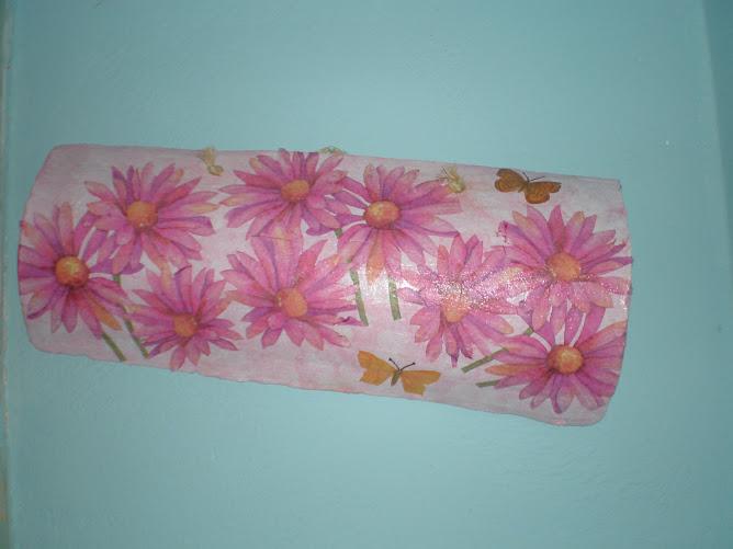 telha flores rosa (vendida) 2008