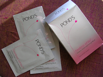 Ponds Flawless White Vitamin Soak Lightening Mask Review