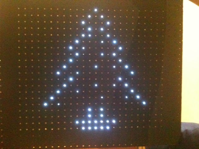 LED Display showing Christmas tree
